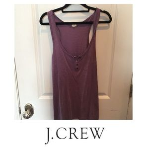 J. Crew Purple Henley Tank